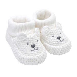 🆕White Polar Bear Crochet Baby Booties